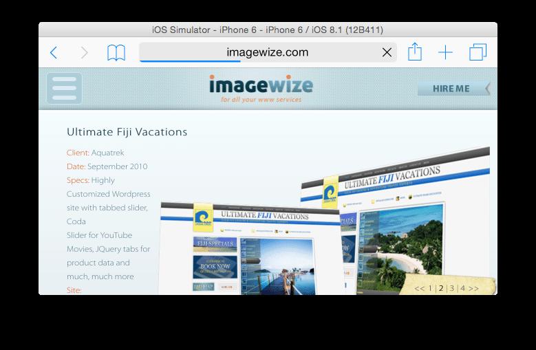 Imagewize Responsive Design