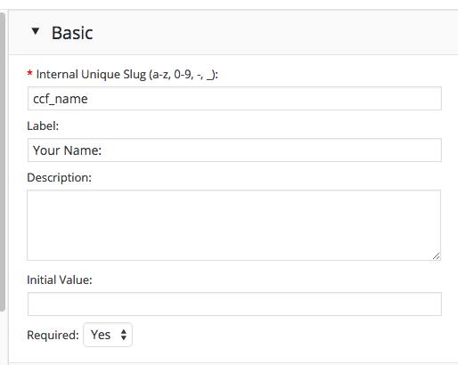 ccf field basics