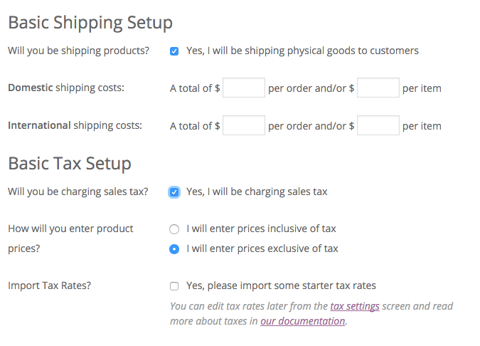 Sales Tax and Shipping picked