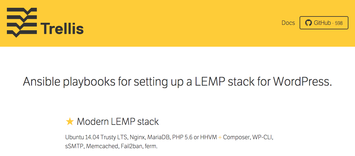 WordPress LEMP Stack Management with Trellis