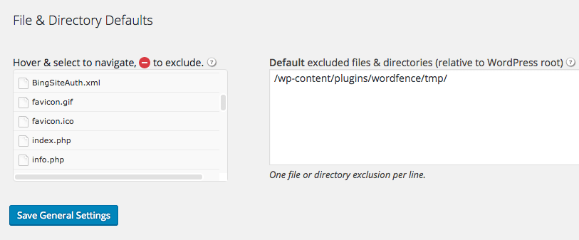 BackupBuddy File and Directory Defaults