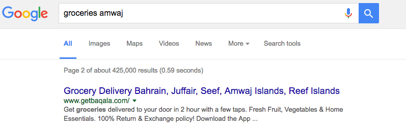 Baqala Groceries - Page 2 of Google for groceries amwaj
