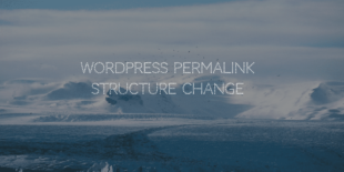 WordPress Permalink Structure Change