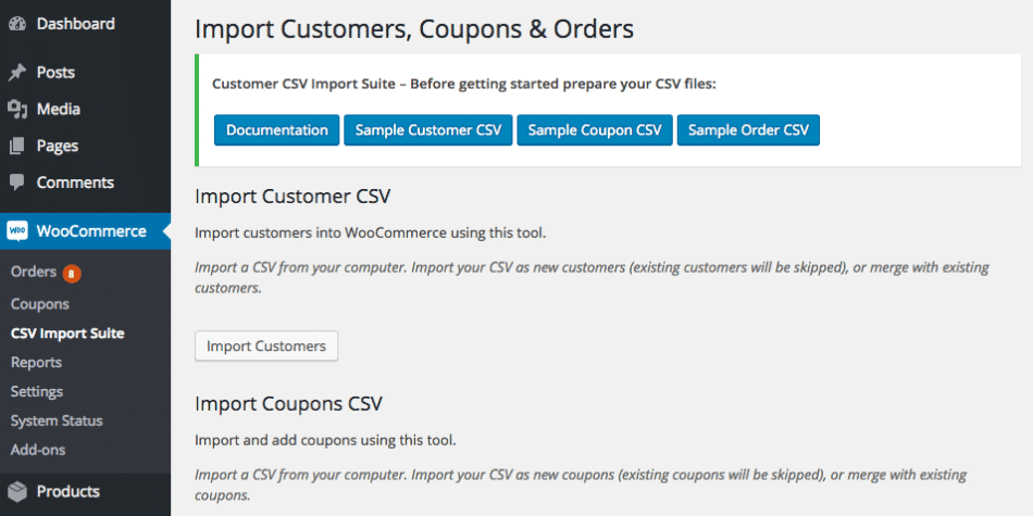woocommerce customer coupon order import suite