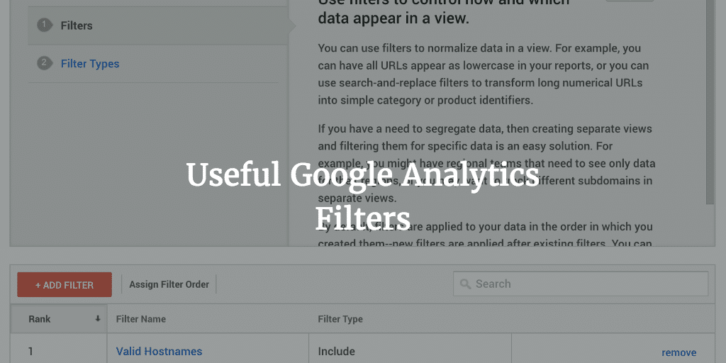 Google Analytics Filters to Clean up Your Stats