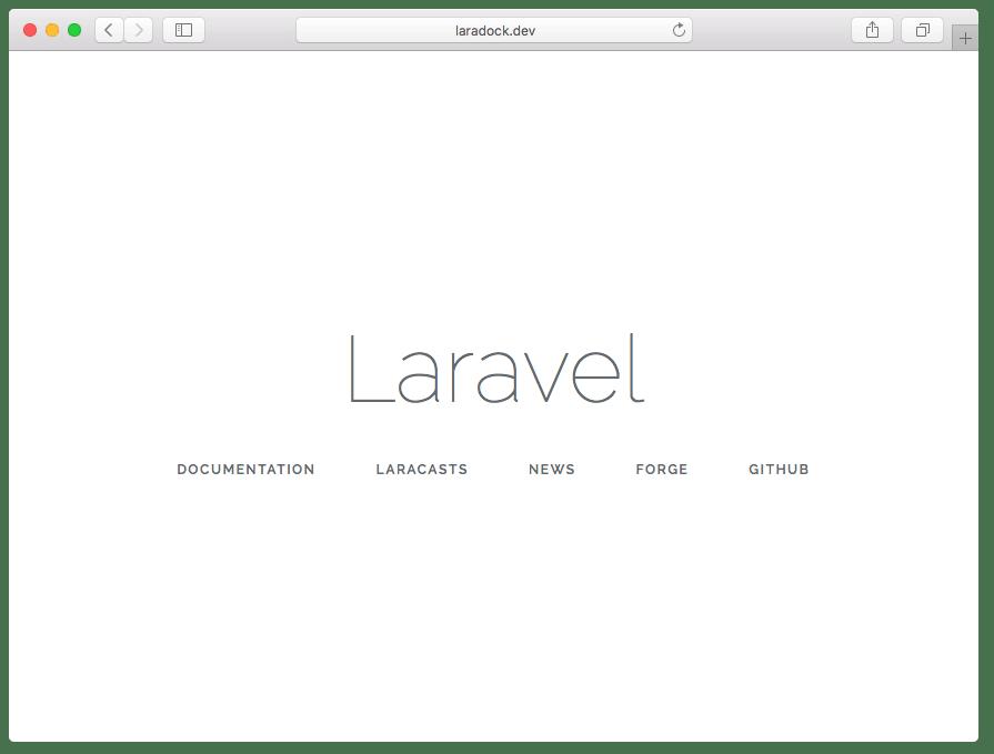 laradock on localhost