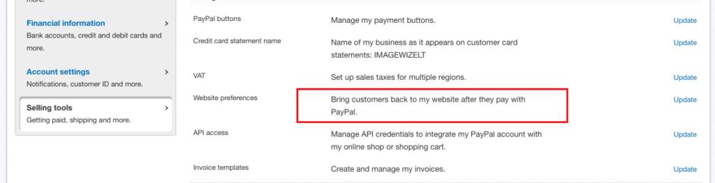 PayPal Setup