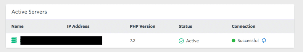 Laravel Forge Connection Check